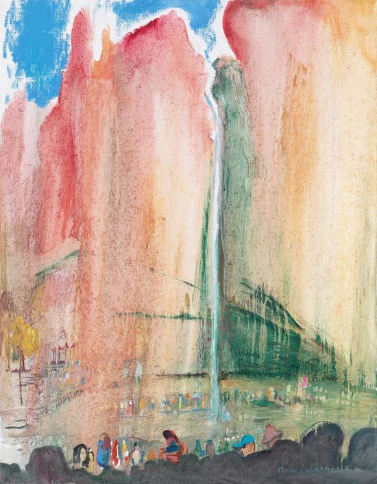 《雁荡山》 布面油画 90x70cm 2018年