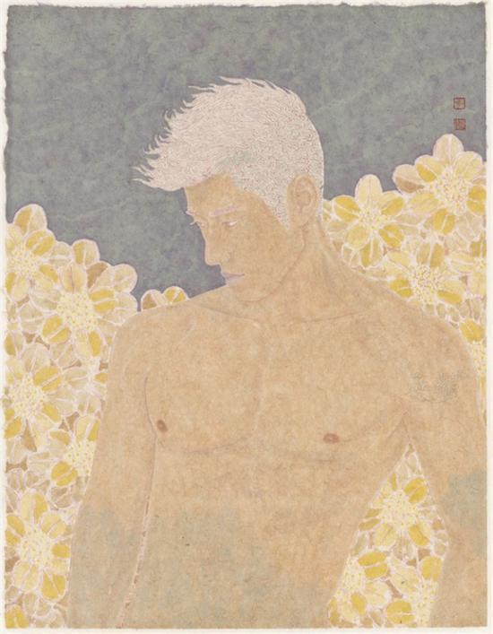 裸与和平之四-纸本设色-49x61cm-2016