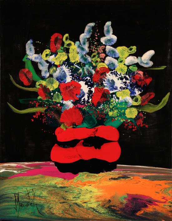 瑶姬爱之花 油画 114×146cm 2011