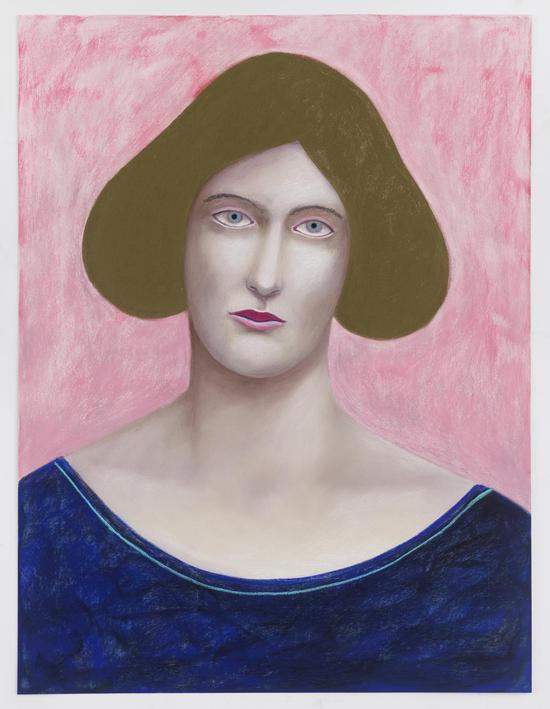 《肖像02》,2018,色粉,80 × 60 cm,由艺术家、kaufmann repetto画廊(米兰/纽约)及The Modern Institute/Toby Webster Ltd(格拉斯哥)惠允