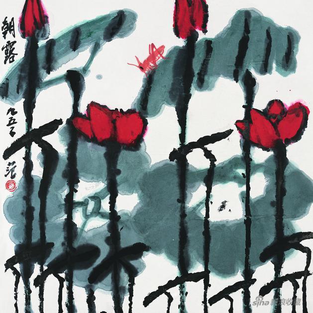 崔子范《朝露》 68cm×68cm 1995年
