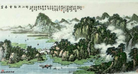 《富春云起润奇峰》,69cmX69cm,2016年,黄廷海作