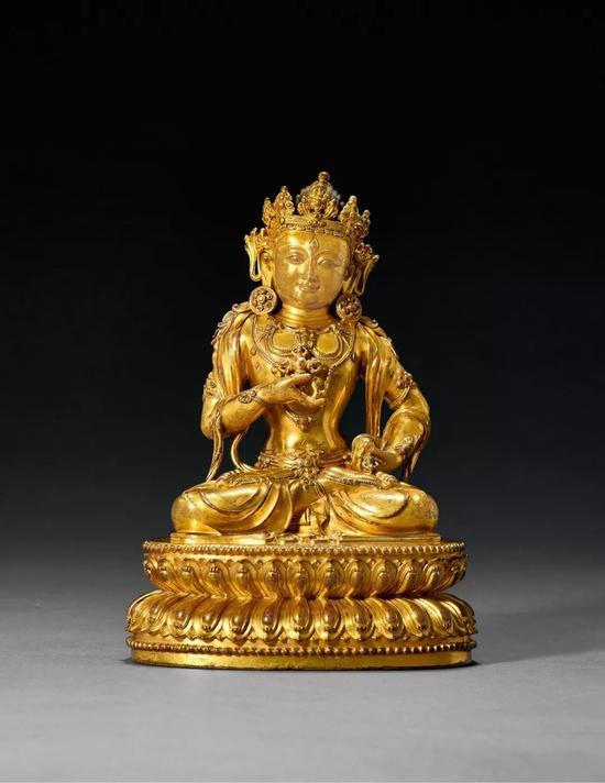 明永乐铜鎏金摧破金刚:佛教上乘之作