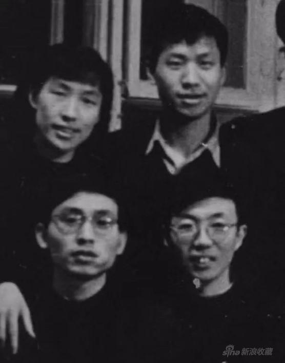 右下为李天祥先生,右上为全山石先生,左上为李玉兰先生(晨朋),左下为邵大箴先生