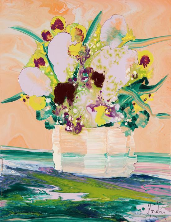 自然的精灵 油画 48×63cm 2017