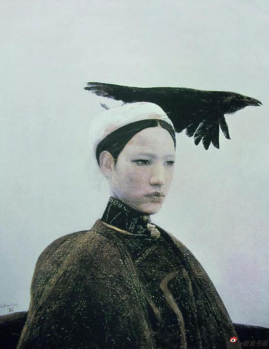 乌鸦是美丽的 布面油画 89.8x70cm 1988