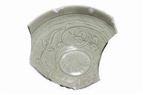 """图 龙泉窑珠光青瓷,标志性""""米""""字形荷花纹_b"""