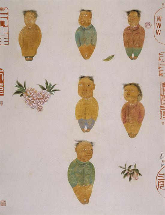 朱伟 《开春图十一号》水墨设色纸本 160×120cm 2007