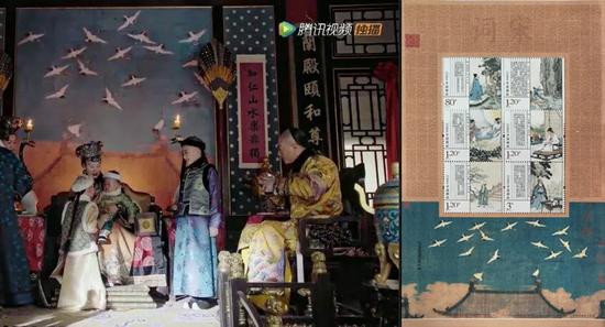 热播清宫剧中蕴含的诗书邮票