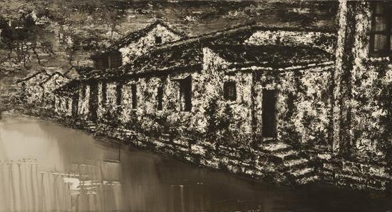 逝色·东北街河畔(布面油画)150 x80cm2009年