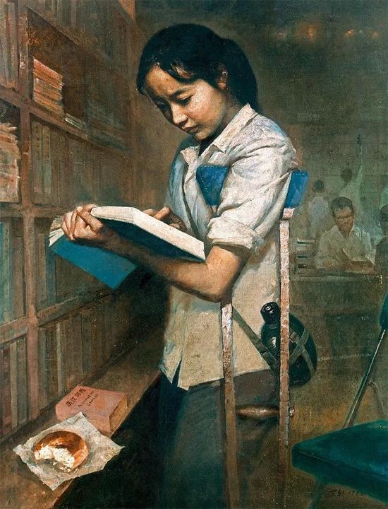 艾轩 有志者 1980 年 布面 油画94.5×74.5 cm