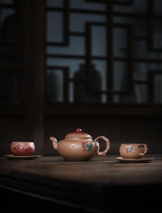 霓裳天资组壶 艺术家赵曦鹏作品