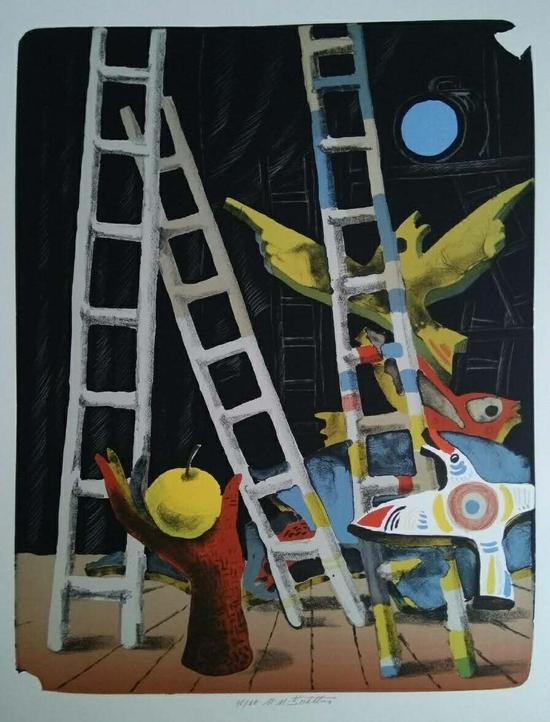 玛丽亚·谢和特洛娃(捷克) 石版画