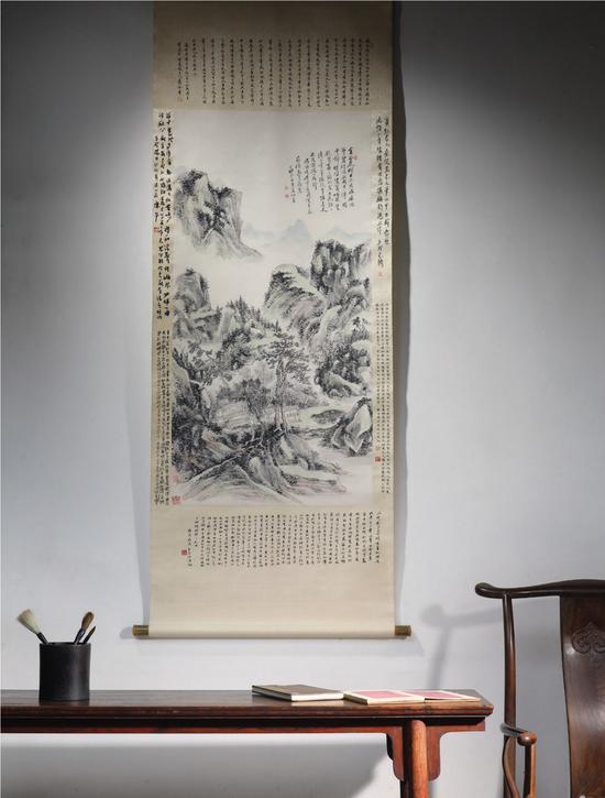 黄宾虹《山居治学图》现身拍卖场