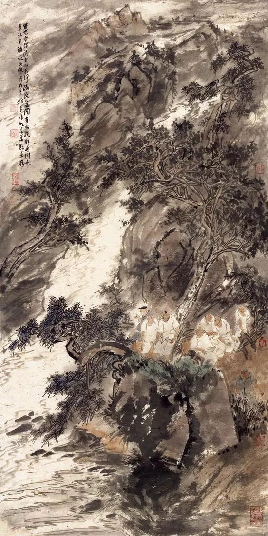 逍遥游山水系列 136×68cm 纸本 2018
