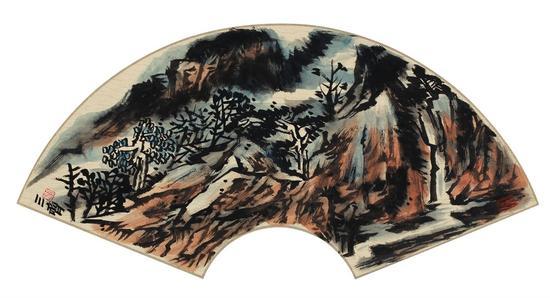 《峰叠似染》(中国画)