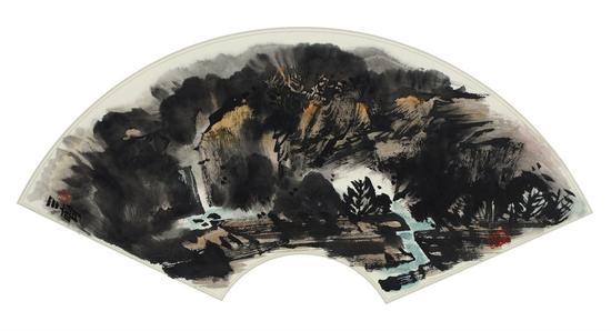 《南山雨后》(中国画)