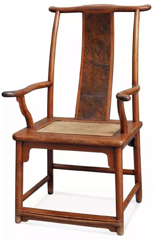 明末清初 黄花梨攒靠背活屉四出头官帽椅62.5×63×108.5 cm