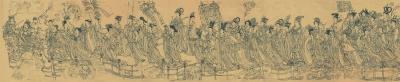 八十七神仙卷(绢本白描) 佚名 徐悲鸿纪念馆藏