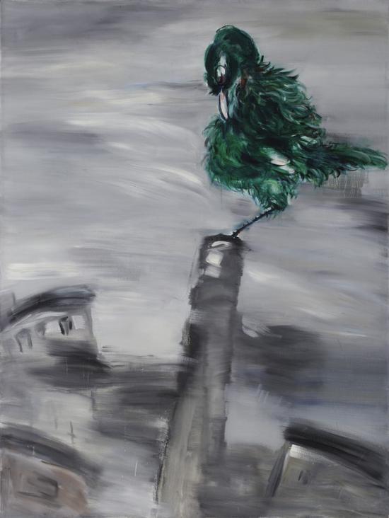 鸟城之二 150x200cm  布面油画 2009