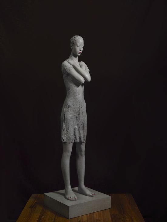 《港湾-冬》28㎝×28㎝×98㎝ 青铜 陈松涛 2011年
