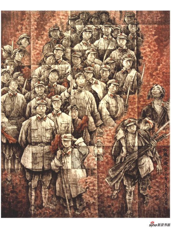 张会元作品《杜鹃之恋》192cmX154cm 2005年