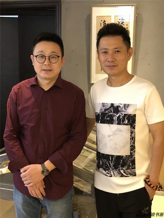 魏晋老师和著名演员郭广平合影