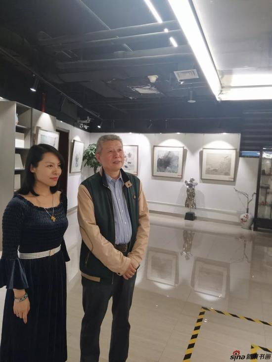 著名美术评论家画家邹凌先生、知名画家曾佳女士