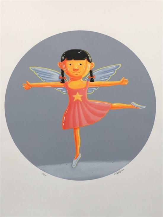 小天使 77×57cm 版画