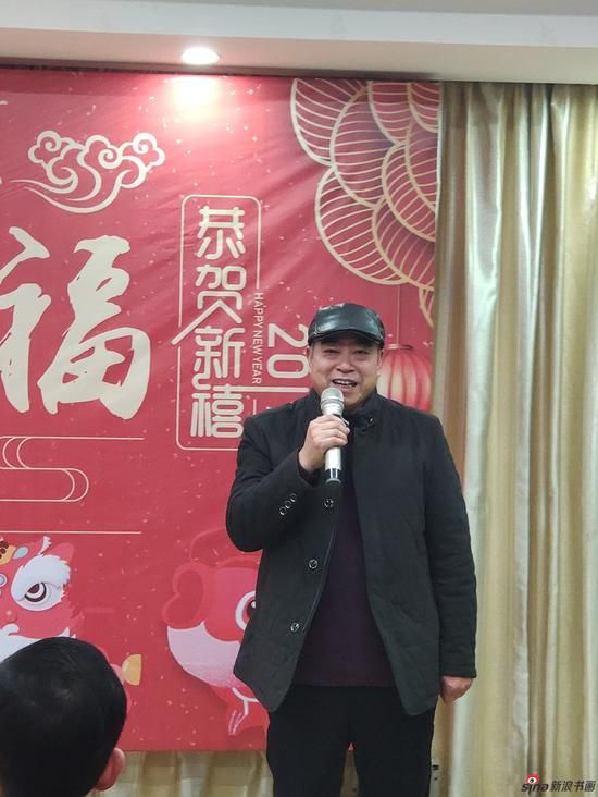 中国美术家协会会员、中国工笔画学会理事、南昌洪州书画院院长 王慧生致辞
