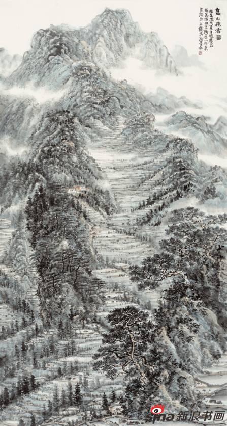 彭晓阳作品《高山粮仓图》97X180cm