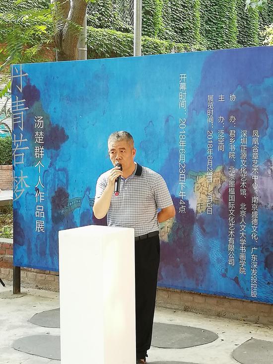 著名策展人杨维明先生致辞