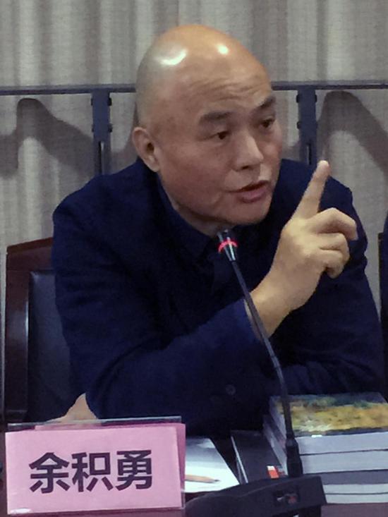 上海代表性艺术家、雕塑家余积勇先生发言