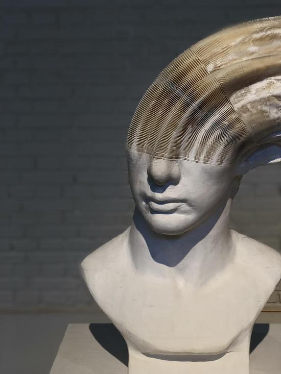 李洪波《教具系列——罗马青年》装置 纸雕塑 尺寸可变2014年