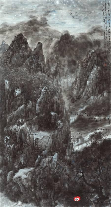 陈彦河作品《遂川写生》97X180cm