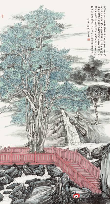 黎墨作品《游遂川得稿》96X175cm