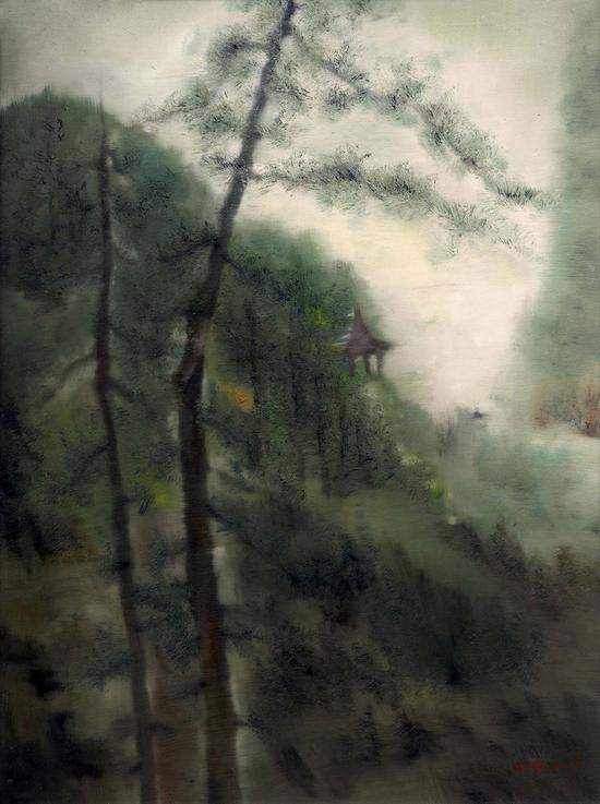 79《松风系列之二》陈向兵 80cm×60cm 布面油画 2017年