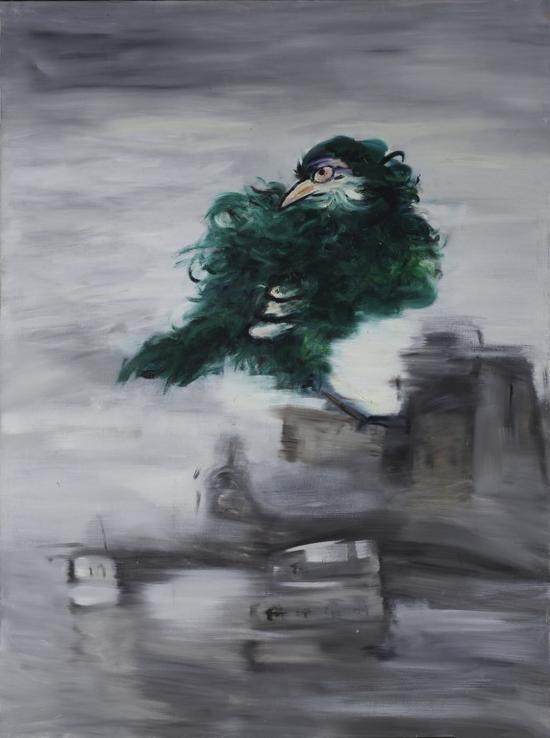 鸟城之一 150x200cm  布面油画2009