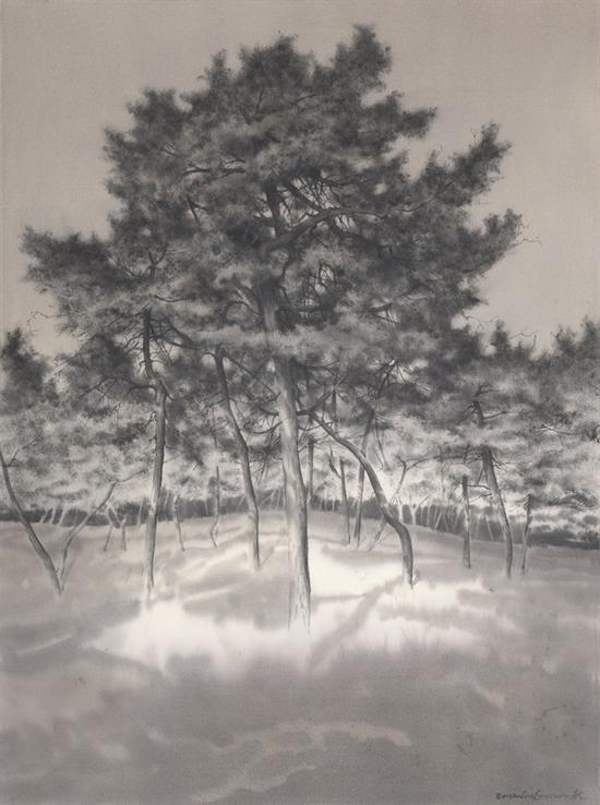 《傲骨--36》赵龙,74x57cm,纸上水彩2015