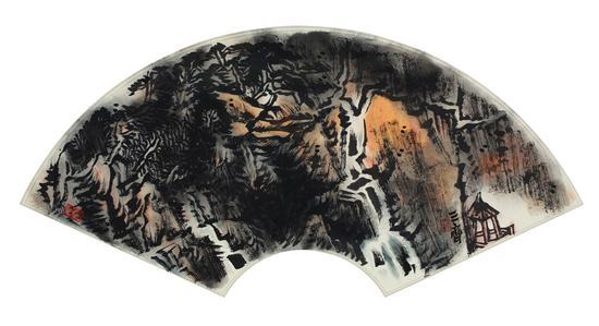 《落泉清远》(中国画)