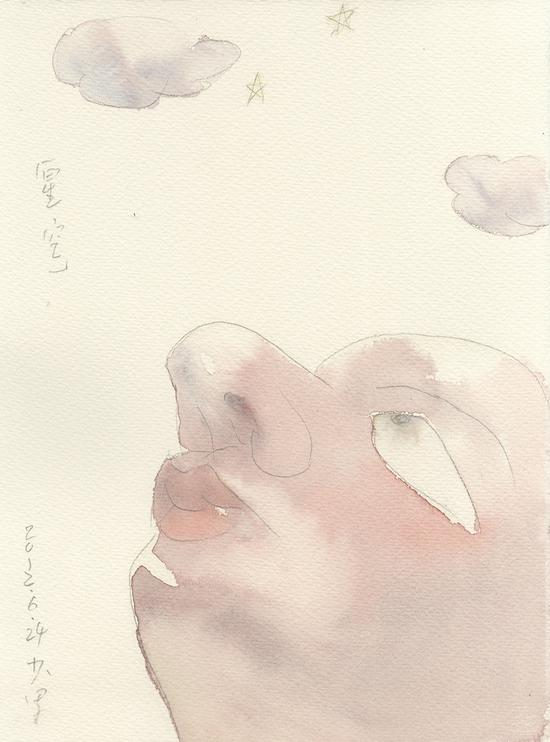 《星空》2012年27.9x37.6cm,水彩171-123