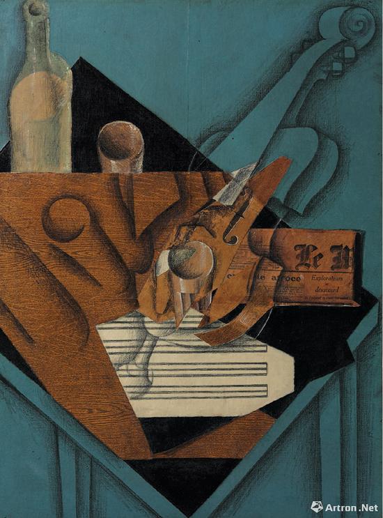 胡安·格里斯(1887-1927) 《音乐家的桌子》 1914年5月作 3181.25万美元