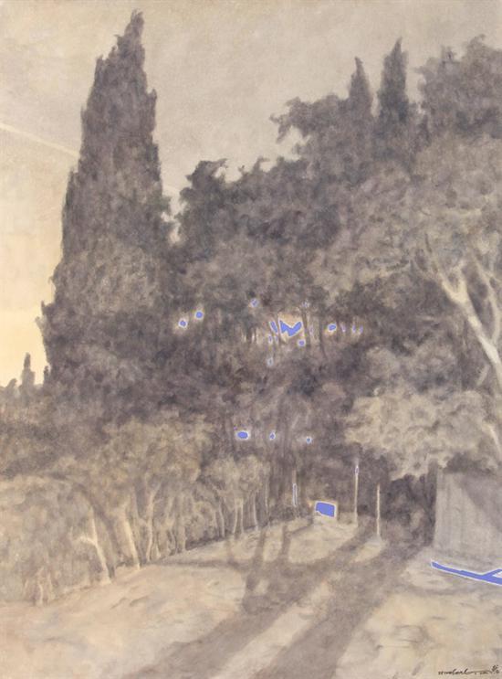 《巡--31》,纸上水彩,赵龙,56cm×76cm,2017