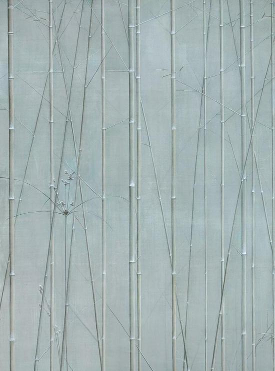 刘野 竹草图  2007-2008年  布面 油画  300×220cm  成交价:RMB 10,350,000