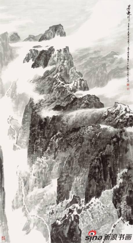 帅安作品《过遂川》100X180cm