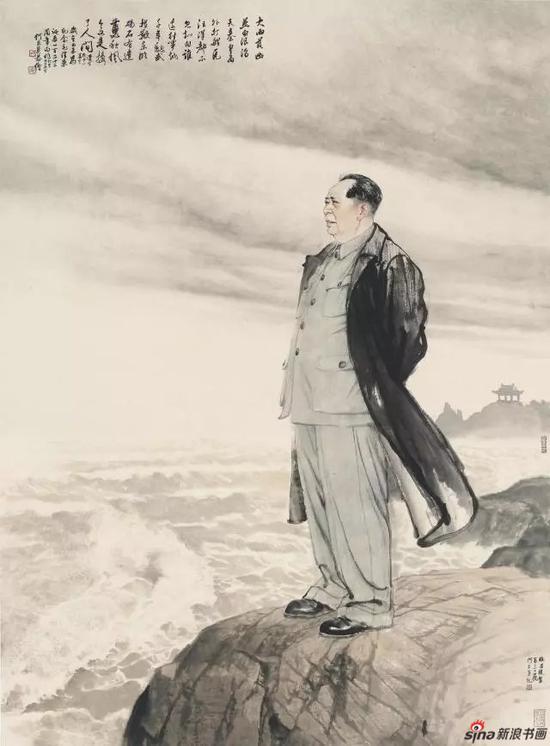 《毛泽东北戴河吟诵图》 197cm x 144cm   何家英