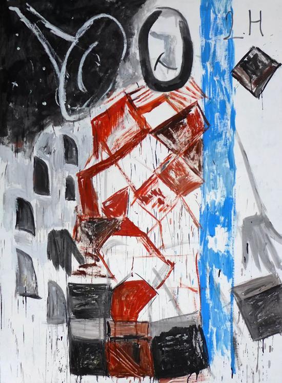 雷红,《舆论灵魂》,布面油彩,200×150cm,2017? An Art Space