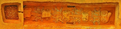 车马坑及殉牲坑(上为南)。故郡遗址考古队供图