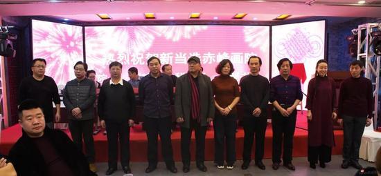 赤峰畫院新當選院委會成員及聘任副秘書長合影