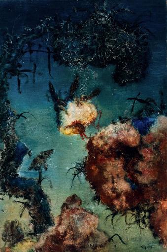 周春芽  中国风景  1993年  布面 油画  195x130 cm